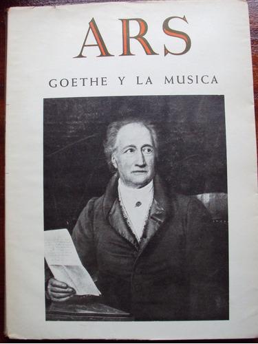 ars. revista de arte. n° 81 (1958) goethe y la música