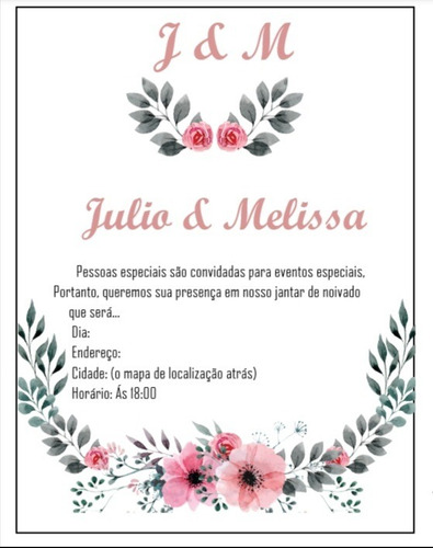 art convite noivado, aniversário