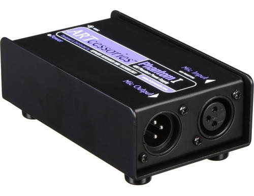 art phantom caja fuente phantom power 48v para microfono