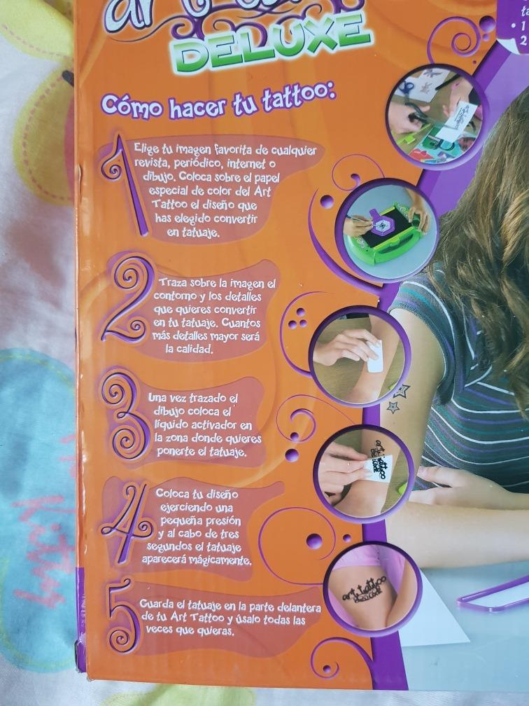 Art Tattoo Deluxe Juego De Tatuajes Temporales Para Niños Bs 700