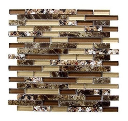 art3d decorative tile mosaico de azulejos de mar y concha de