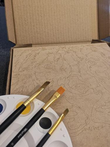 artbox freddie mercury - kit de pintura - by la roulette