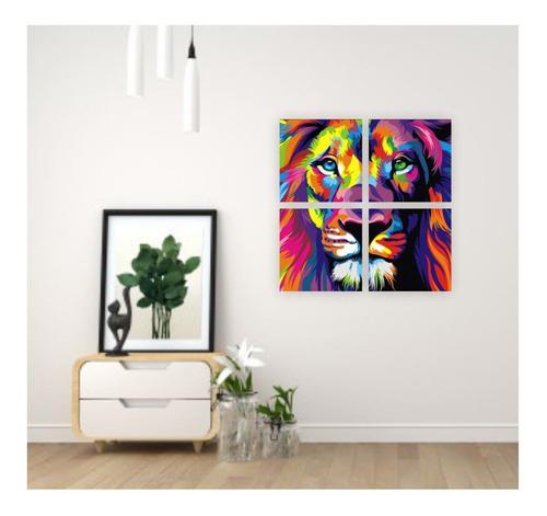 artbox león modular - kit de pintura - by la roulette