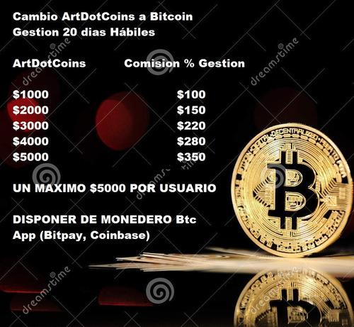 artdotcoins cambio a bitcoin