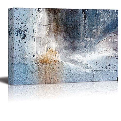 arte abstracto en lienzo - pared envejecida - impresión gicl