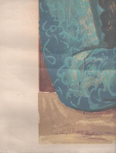 arte argentino : berni, antonio - serigrafía tela 70x50.cm