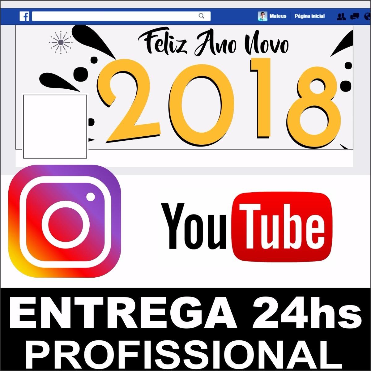 904145a4c7 Arte Capa Facebook Instagram Youtube Fanpage Barato Promoção - R  24 ...