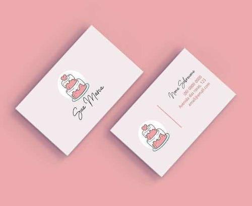 arte cartão de visita personalizado + criação de logomarca