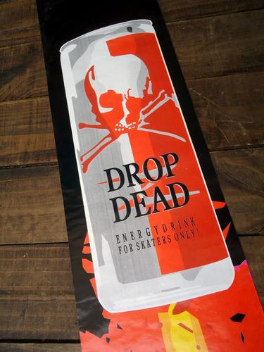 arte ceda p/ shapes skate drop dead anos 80 original