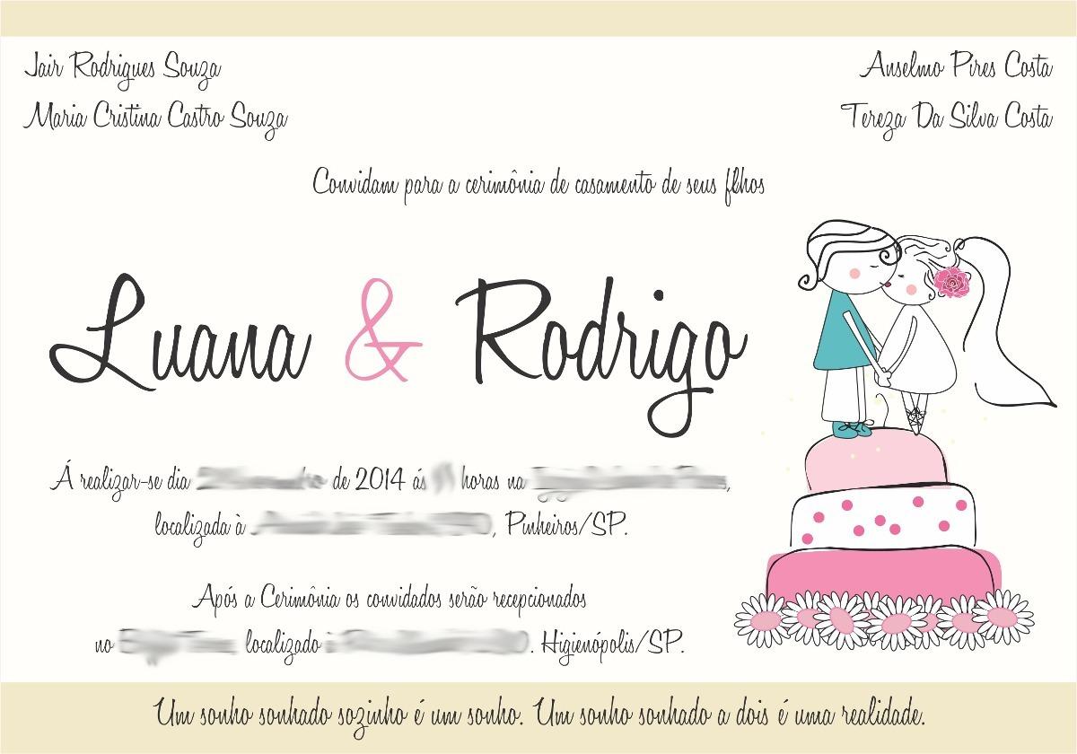 Frases Para Convite De Noivado Evangelico: Arte Convite Casamento/noivado/aniversario/festa 15 Anos