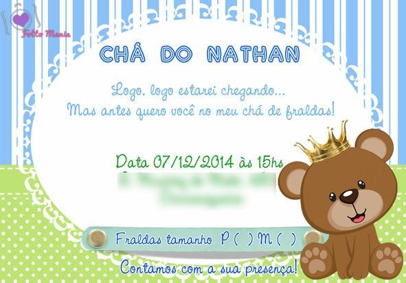 Arte Convite Chá De Bebê Safari Marie Urso Príncipe Ursa R 2500