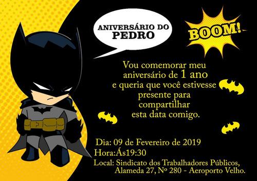 arte convite digital batman
