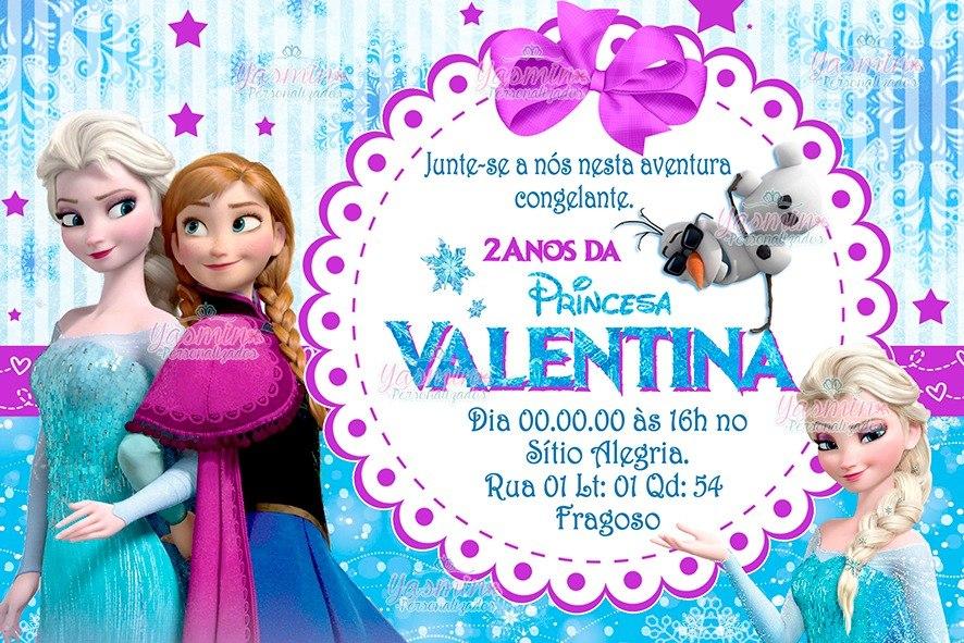 arte convite digital frozen imprimir em casa r 8 00 em mercado livre