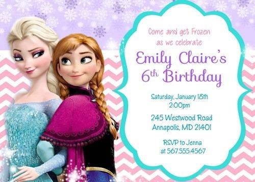 arte/ convite digital frozen modelo 3