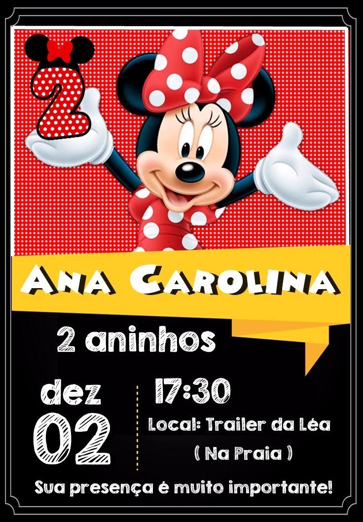 Arte Convite Digital Minnie Vermelha R 1800 Em Mercado Livre