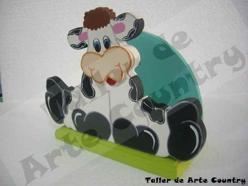 Arte Country Servilletero Vaca Patiabierta -  28.200 en Mercado Libre