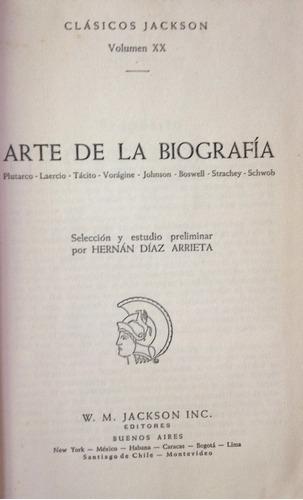 arte de la biografia plutarco; laercio; tacito; voragine; jo