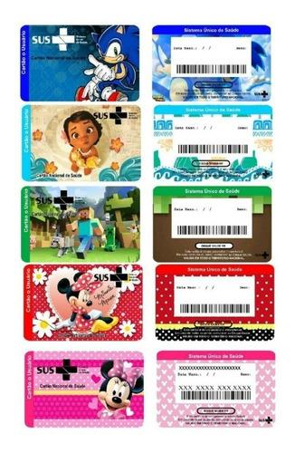 arte digital cartão do sus personalizado