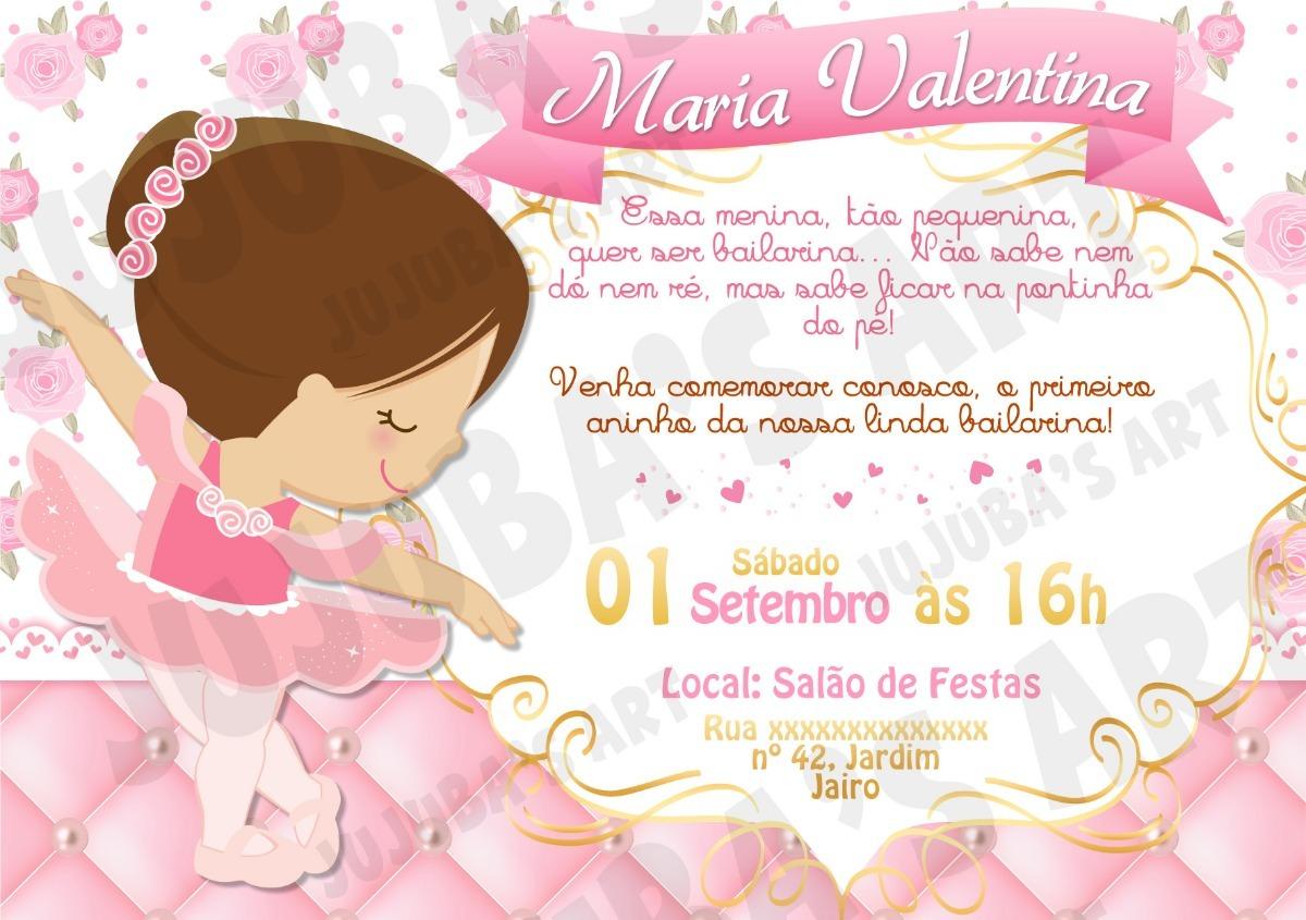 Arte Digital Convite Bailarina Morena R 1500 Em Mercado Livre