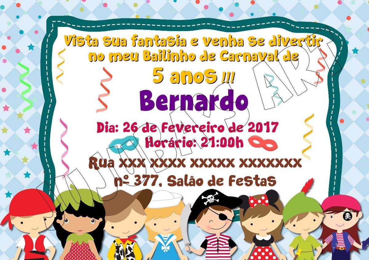 Arte Digital Convite Carnaval Ou Festa A Fantasia R 15 00 Em