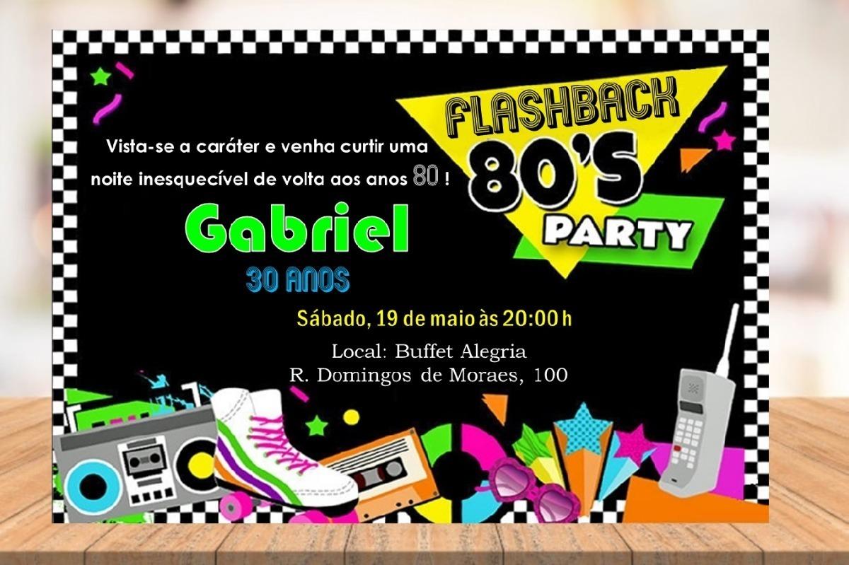 Arte Digital Convite Festa Balada Anos 60 70 80 R 13 99 Em