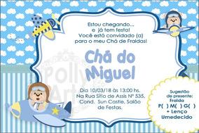 fa8aebc71e Convite Ursinho Aviador no Mercado Livre Brasil
