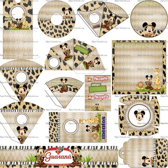 Arte Digital Kit Festa Mickey Safari Promocao R 9 99 Em