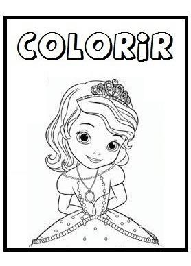 Arte Digital Para Colorir Princesa Sofia R 15 00 Em Mercado Livre
