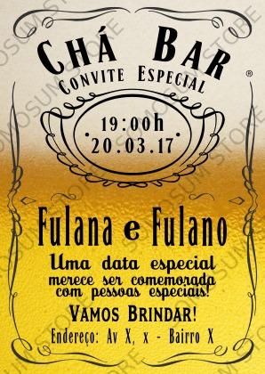 Arte Digital Personalizada Convite Chá Bar R 1700 Em Mercado