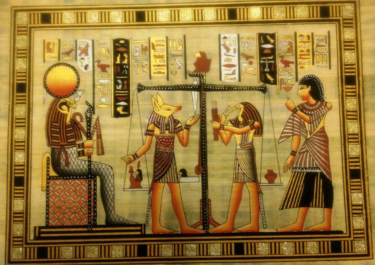 Arte Egipcio Papiro Egipcio 1 200 00 En Mercado Libre # Muebles Egipcios