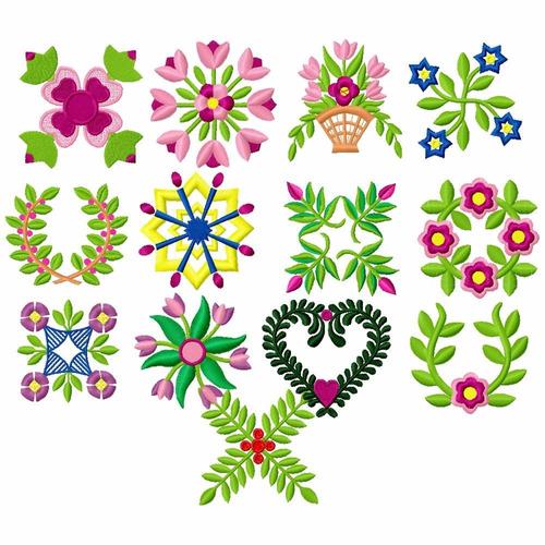 arte em flores- matriz de bordado bc1231