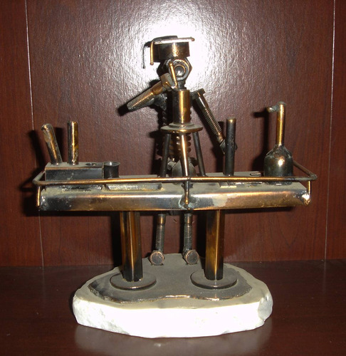 arte escultura de quimico