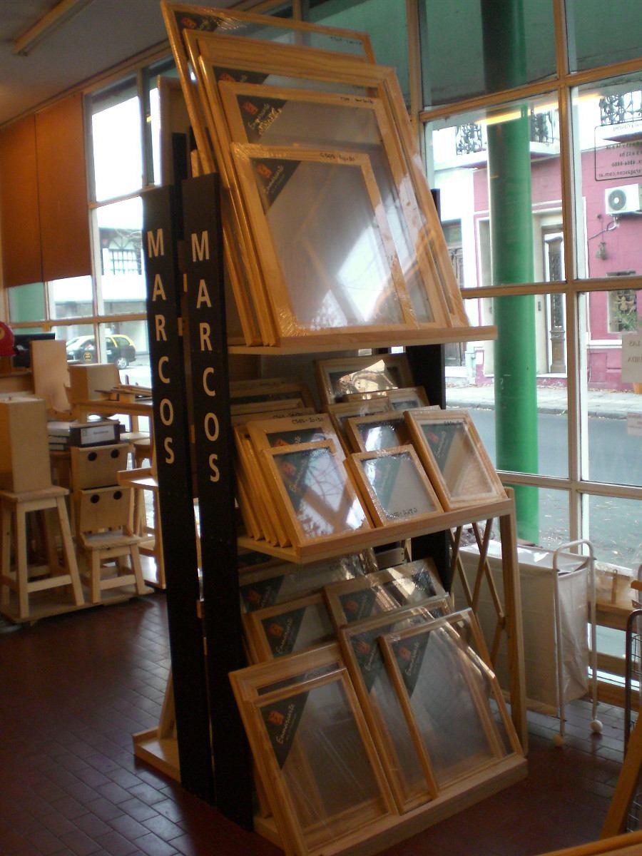 Arte Frances Simple Marco Con Fondo Y Vidrio 40 X 50 - $ 382,00 en ...