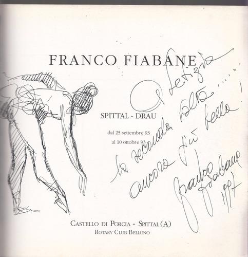 arte italia escultura catalogo franco fiabane dedicatoria