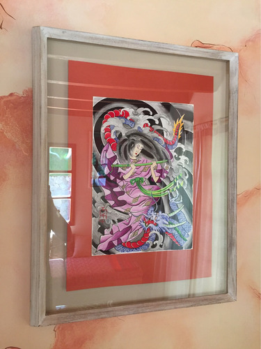 arte japonés horikazu con acuarelas artista hernán sutty