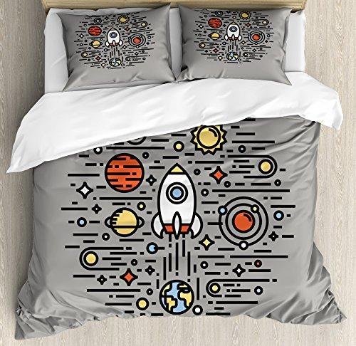 Funda Nordica Espacio.Arte Juego De Funda Nordica Por Lunarable Espacio Ciencia F
