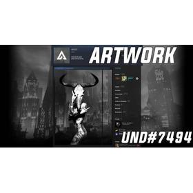 Arte Longa Steam , Artwork Intercalada Com O Fundo Artwork