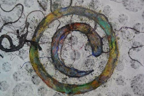 arte mexicano cuadro monotipia artista sara waisburd