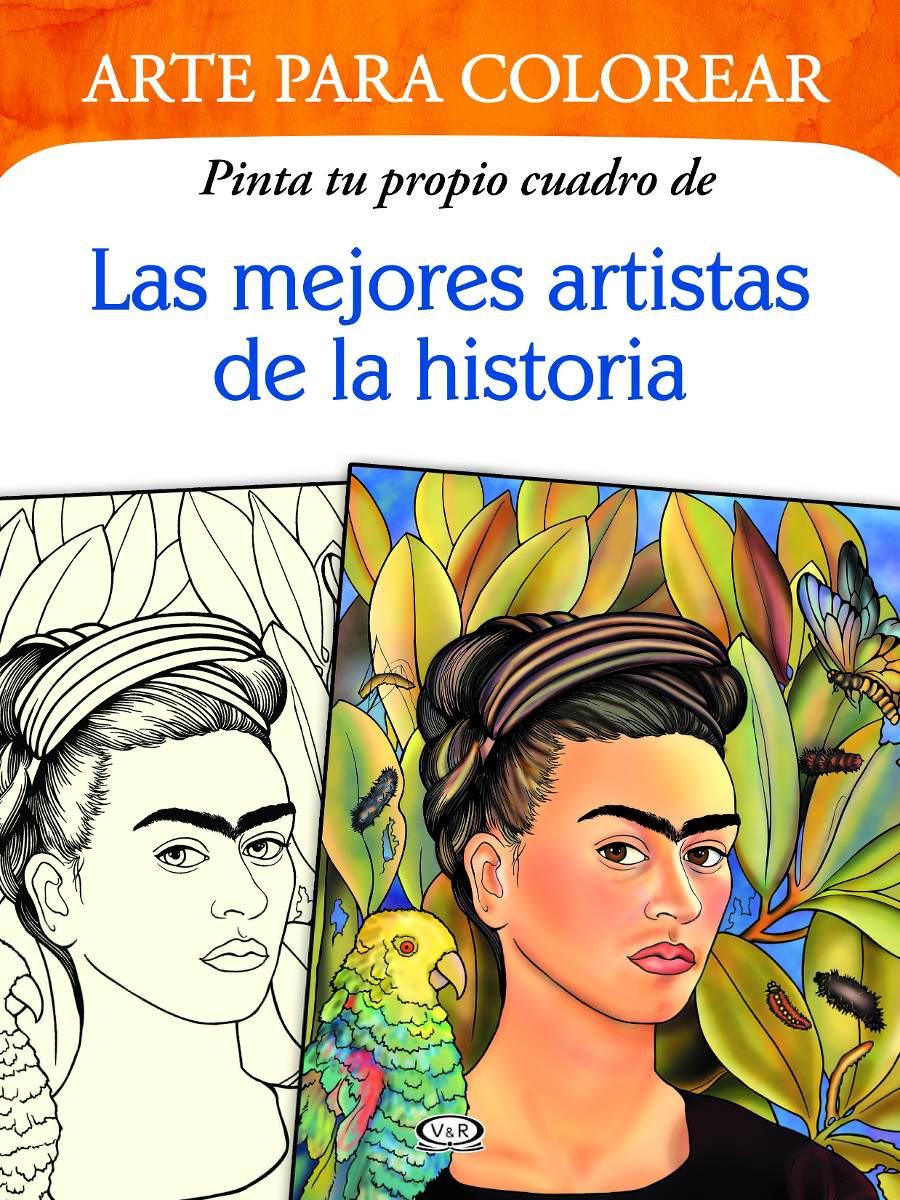 Arte Para Colorear - 6 Libros - Pinta Tu Propio Cuadro - V&r ...