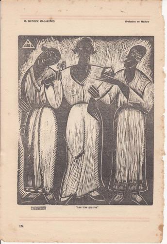 arte reproduccion grabados melchor mendez magariños la pluma