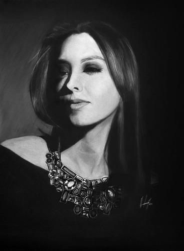 arte, retratos y dibujos a color (56 x 72 cm 1 persona).