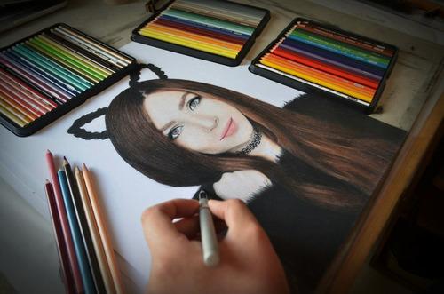 arte, retratos y dibujos a lápiz (34 x 43 cm 2 personas).