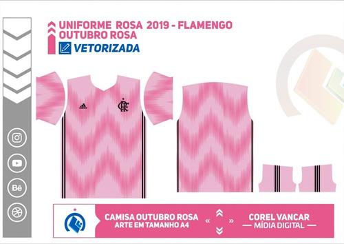 arte vetorizada do flamengo 2019, rosa para sublimação
