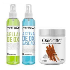 Artecret ® Oxidatto Pintura Efecto Oxido - Rinde Hasta 3 M2