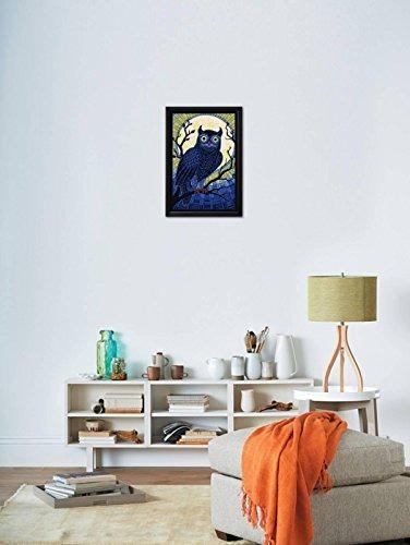 Artedge Owl-paper Mosaic, Black Frame Print, 17 X 24, Black ...