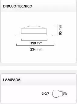 artefacto embutido redondo c/ 2 lamparas e27 led 12w f o c
