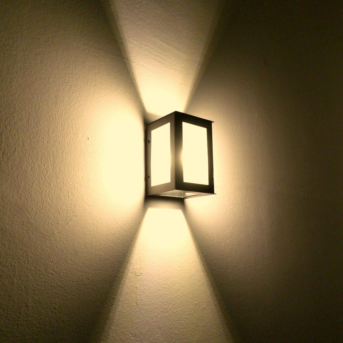 Artefactos Iluminacion Exterior Modernos Pared Led 8w Kit X2 - Artefactos-de-iluminacion-exterior