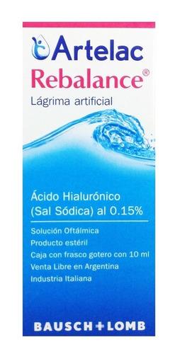 artelac rebalance bausch lomb lagrima para lentes contacto