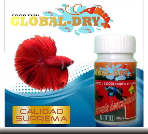 Artemia descapsulada alimento para peces y alevines 20grs for Artemia para peces