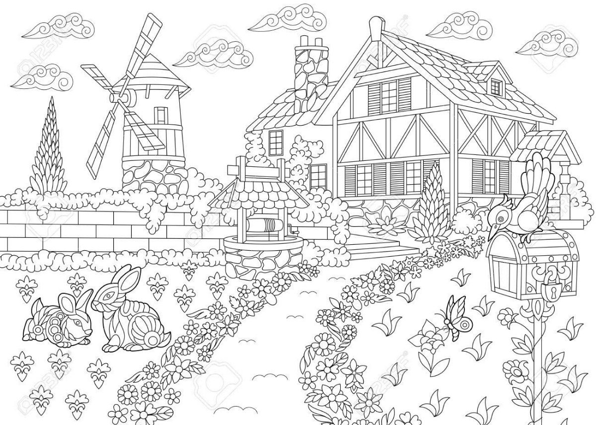 Arterapia. Dibujos Para Colorear Para Adultos + 12 Lapices